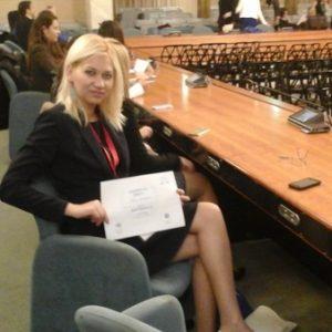 Silvia Busacca in conferenza ad Atene