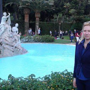Silvia Busacca in visita ai giardini del Quirinale